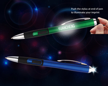 Multi Function pen LED Light Up Promotional Ball Pens with Laser Engraved Logo