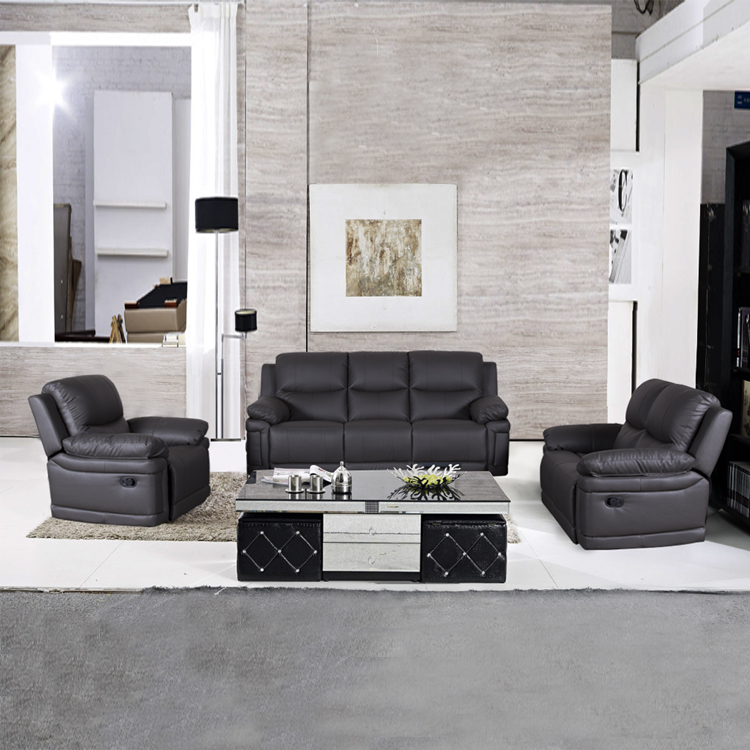 High Quality leather sofa recliner 3 seater leather recliner power recliner living room sofa sets