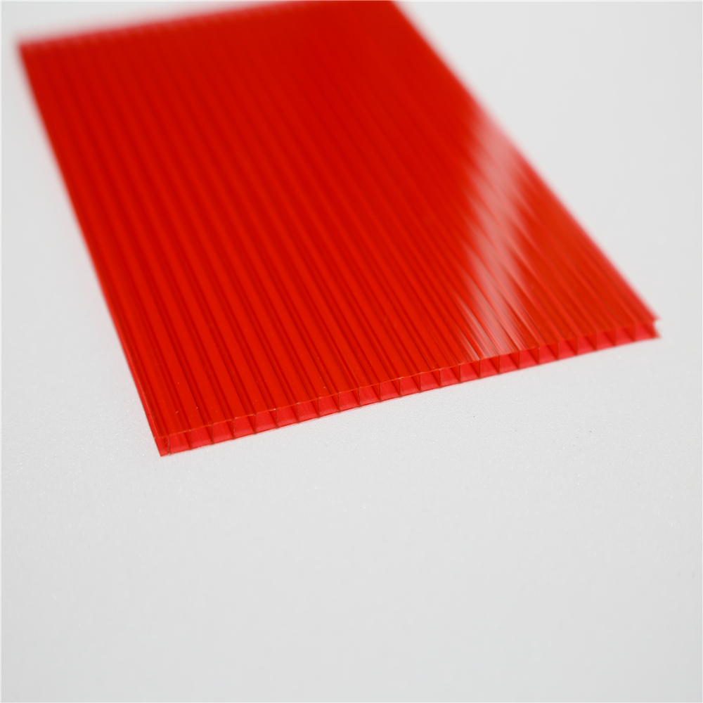 4mm to 10mm two layer polycarbonate hollow sheet for sale