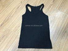 Fashion cheap ladies black casual vest tops factory closeout