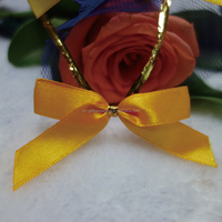 Customized Satin Ribbon Bow with Wire Twist Tie