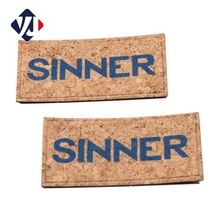 Tree/Cork pattern printing logo faux leather patch garment label