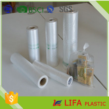 natural poly bag hdpe ldpe food bag flat bags on roll for vegetables and fruit