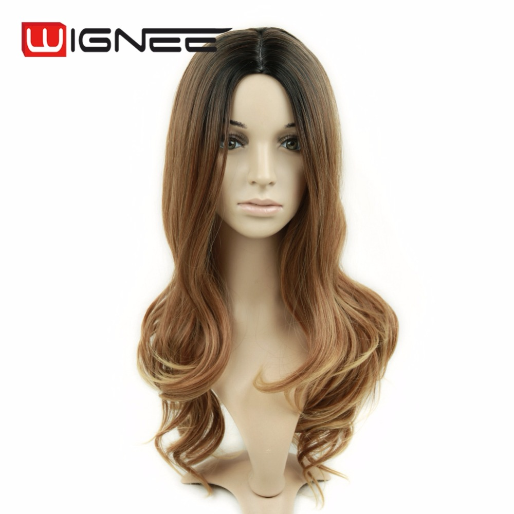 Middle Part Skin TOP Wig Heat Resistance Synthetic Hair Wigs Factory Wholesale Cheap Price OEM/ODM Synthetic Wig on Sale