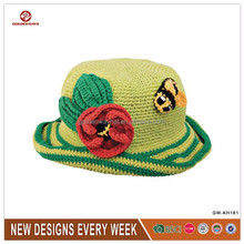 new hand made fancy knitted winter bucket hats wholesale