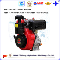 4-Stroke 192F diesel engine motor, 5hp air cooling diesel engine for sale