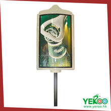 Advertising road traffic sign rectangle lamp pole outdoor display