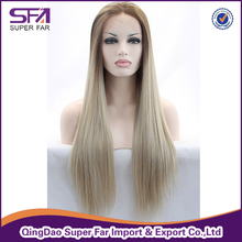 Hair supplier sell hair wig, noble synthetic hair wig lace front wig