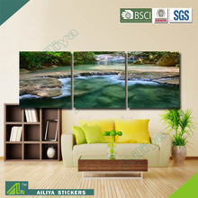 Home decor customized modern canvas three panel flower painting designs for suits