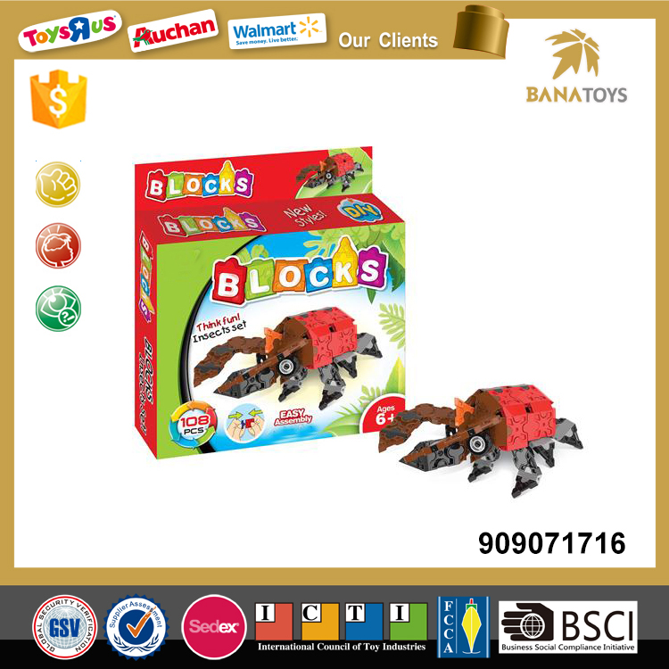 Kids insect toys building blocks set
