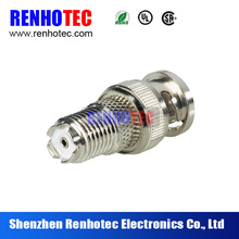 High quality rf connector electric adapter bnc male to mini uhf female adapter
