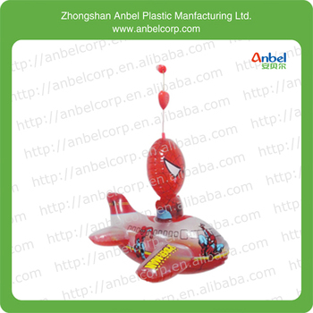 cheap promotional inflatable toy mini spider-man flying a plane