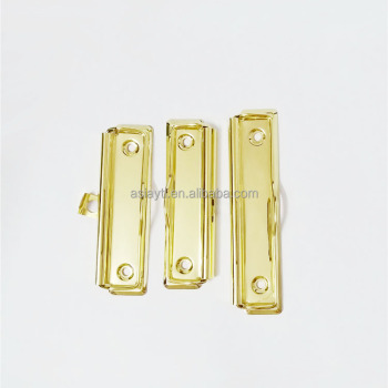 hot selling splendid gold flat metal wire clip for clipboard wholesale