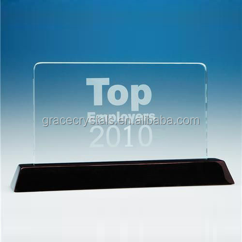 Crystal rectangle plaque
