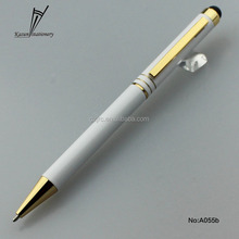 2 in 1 function top selling stylus touch twist ball pen for Nokia N97,5800, 5530
