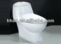 fashion design high grade one piece siphon sanitary ware ceramic toilet HH-6T121