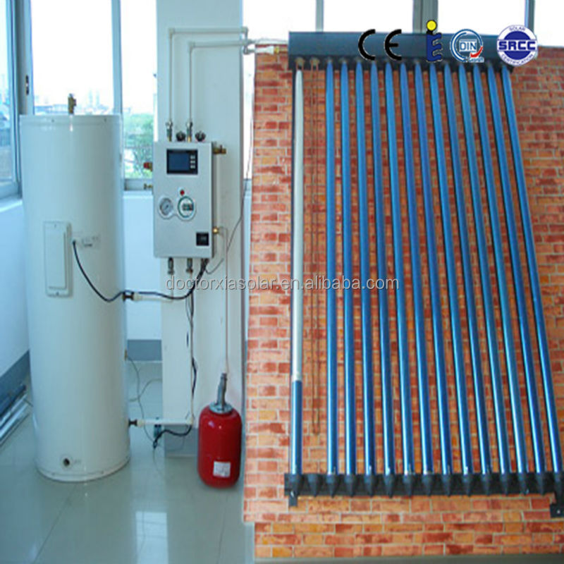 Solar Hot Water Heater System with heat pipe solar collector, solar hot water storage tank and pump station