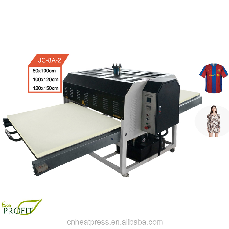 large format automatic Jersey sublimation heat transfer machine
