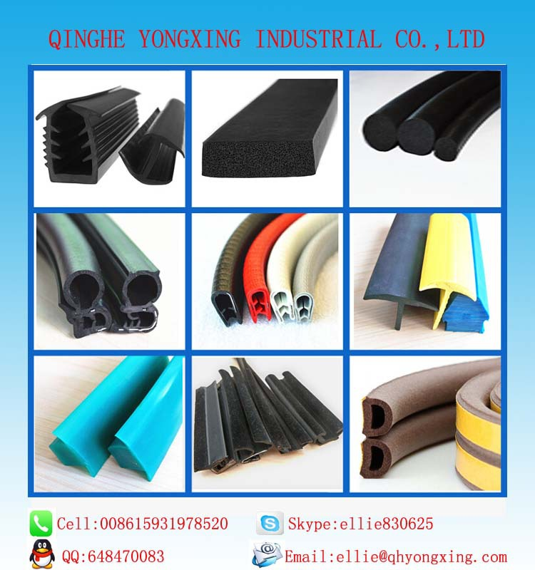 extrusion rubber weatherstrip for auto door and window rubber seal