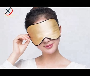 golden colour polyester eyemask