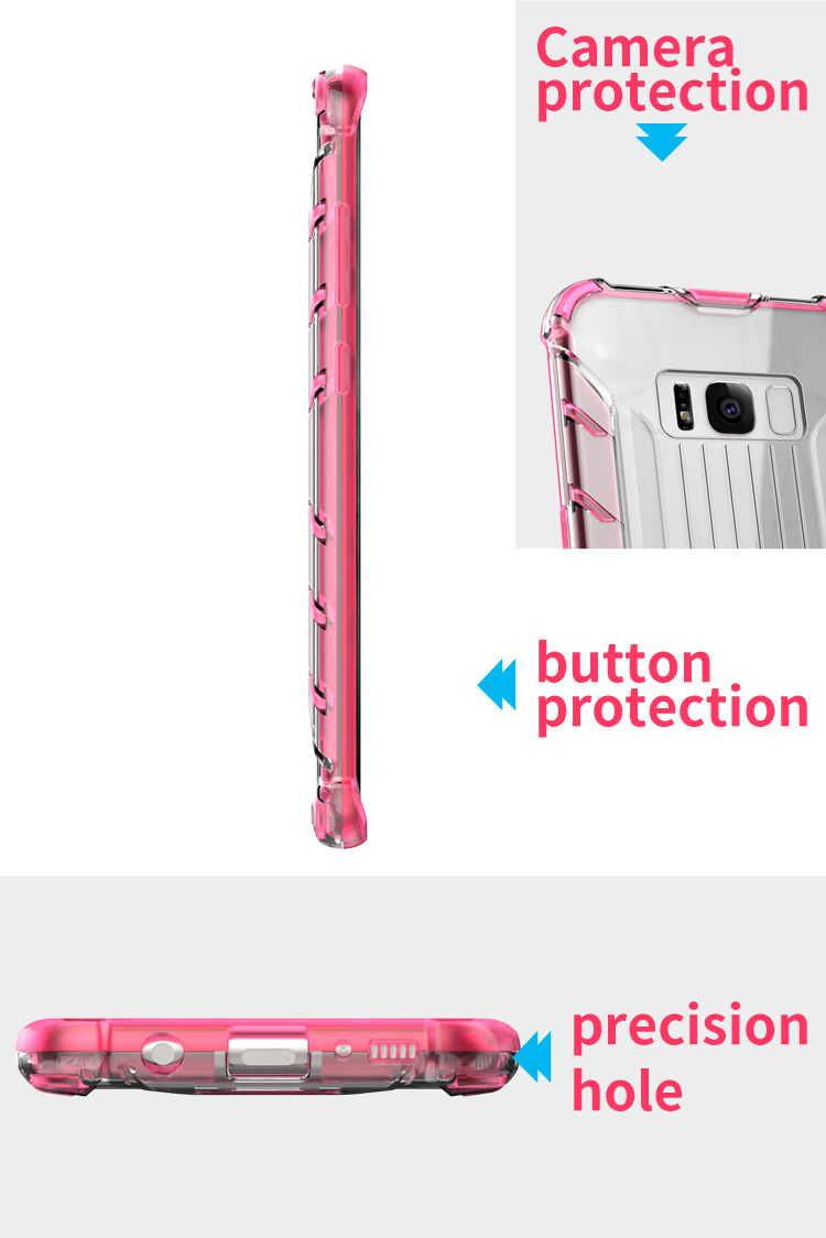 High Quality Design case tpu pc for galaxy s8 plus,for samsung galaxy s8 plus case clear bumper anti-scratch