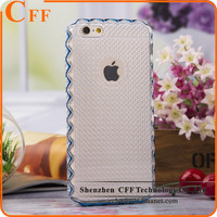 Gold edge Frosted Clear Transparent Crystal Back Cover for iPhone 7 / plus Mobile Phone Case Hood