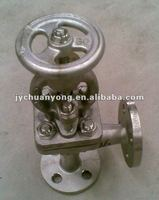 Chinese standard flange end stainless steel globe valve for marine use
