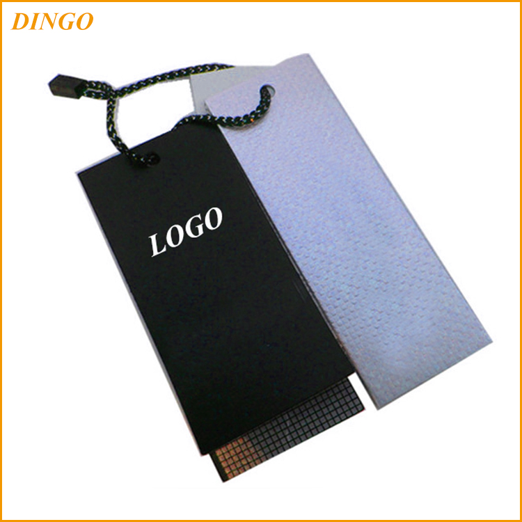 China factory custom own logo fashion jeans garment paper hang tags, paper ticket, swing tag