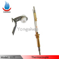 Double head thermocouple with with ceramic and plate