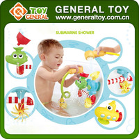 24*8*21cm Baby Bath Toys Submarine Spray Water PVC Bath Toy