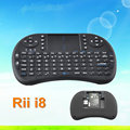 High quality 2.4G Mini Rii i8 Wireless Keyboard Remote Controls Air Mouse With Touchpad Keyboards 92 Keys