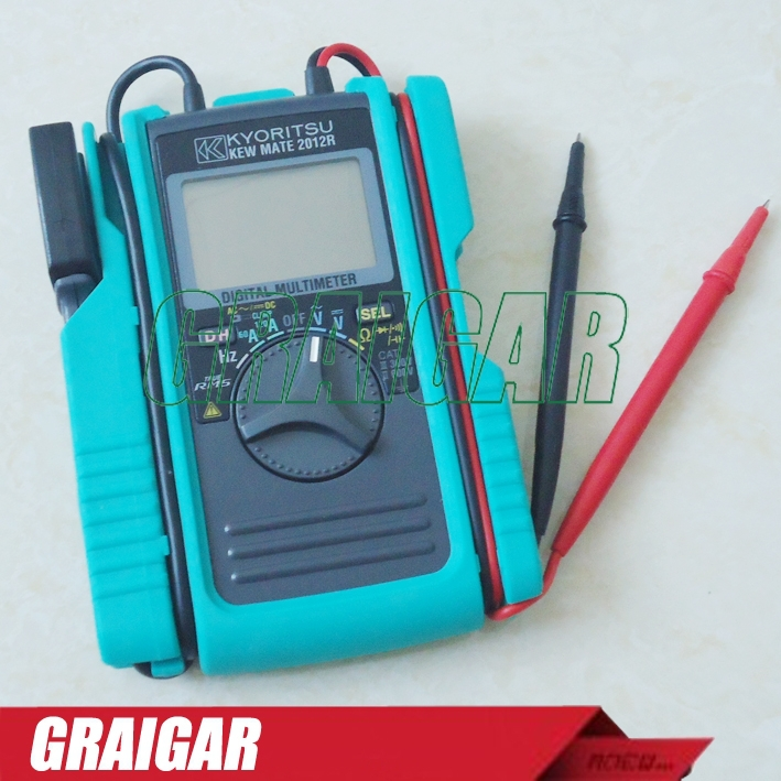 Free shipping!! KYORITSU 2012R AC / DC Digital MULTIMETER with DC Amps AC Voltmeter with Linear