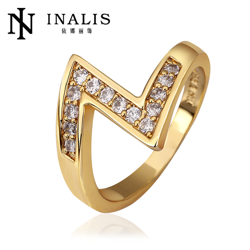 Attractive Simple Design Nickel Free Alloy 18k diamond rings