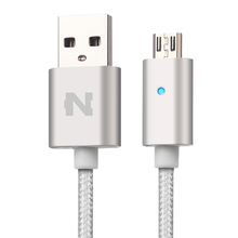 High Speed Charge 1m 1.5m Cable smart automatically power-off auto disconnect usb data cable with LED light for Samsung
