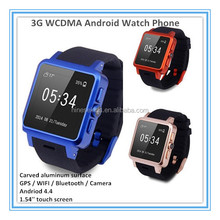 latest wrist watch mobile phone 4.4 OS android watch phone 3G smart phone watch