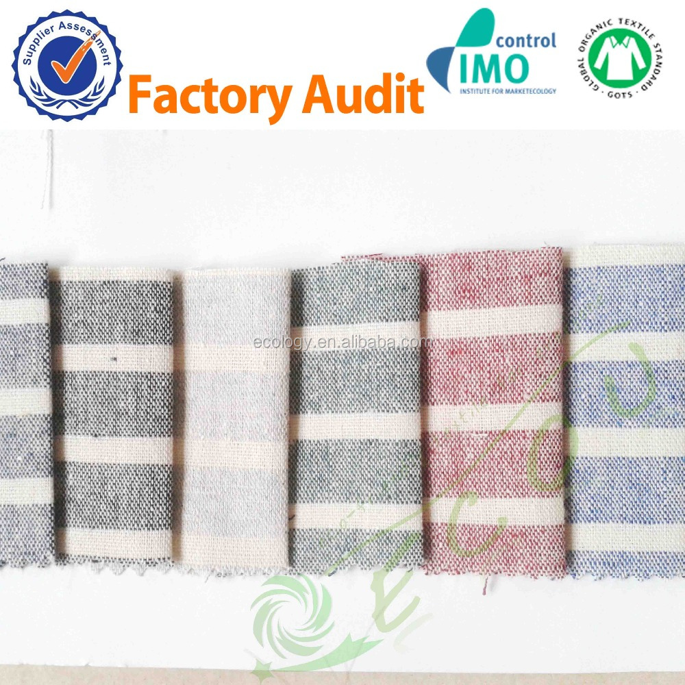 eco-friendly Yarn Dyed linen fabric wholesale for shirt