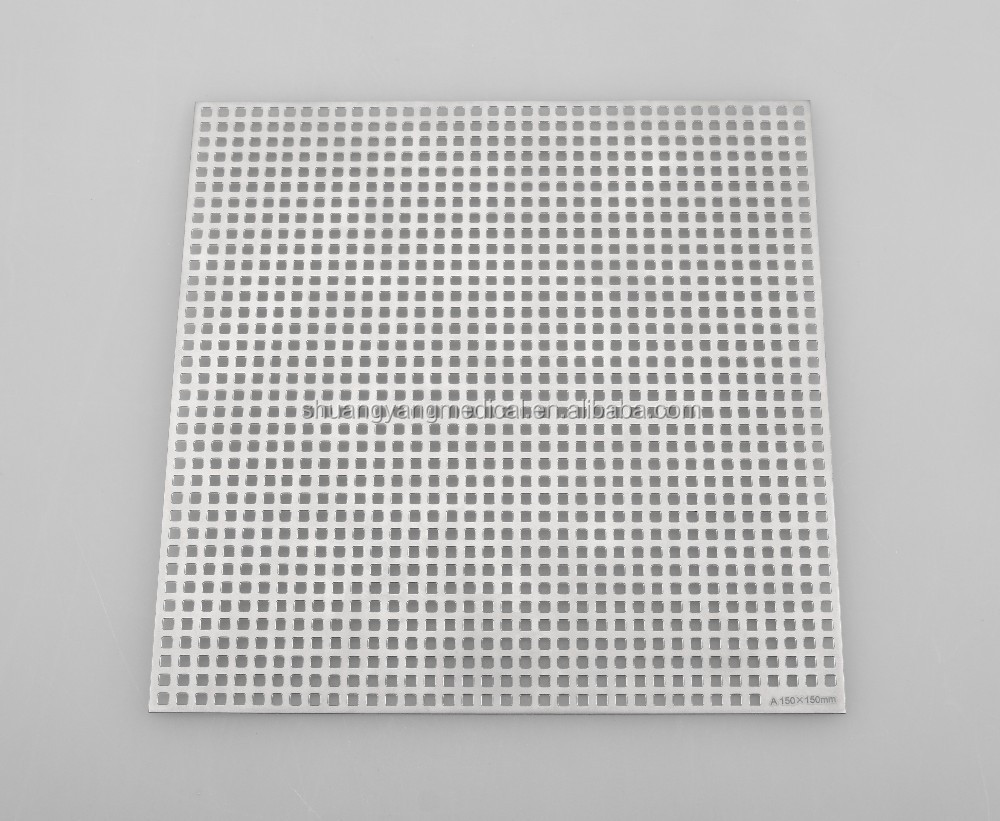 Two-dimensional Titanium mesh (square hole) for orthopedic implants