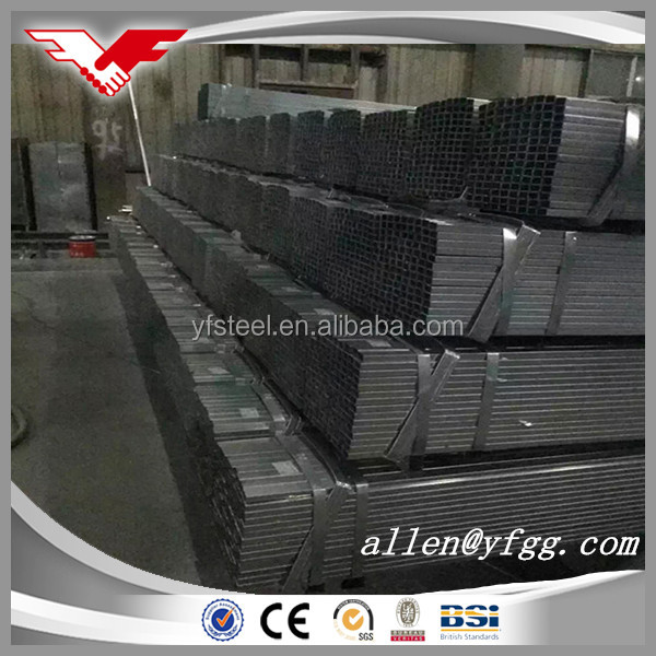 25x25mm Thin Wall Thickness Pre Galvanized Square Pipe Price