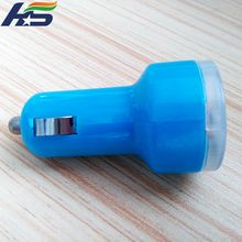 Universal retractable usb car charger 12 to24V DC input charger adapter for smartphone