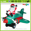 Hot sale cheap inflatable christmas plane with a Santa Claus