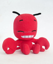 Red color plush crab stuffed plush animal toy