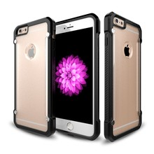 Free sample tpu pc 2-in 1 clear case for iphone