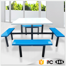 Factory production !canteen table fiberglass dining table set