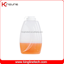 PP 2L round clear glass (plastic) water jug set with lid (KL-8015)