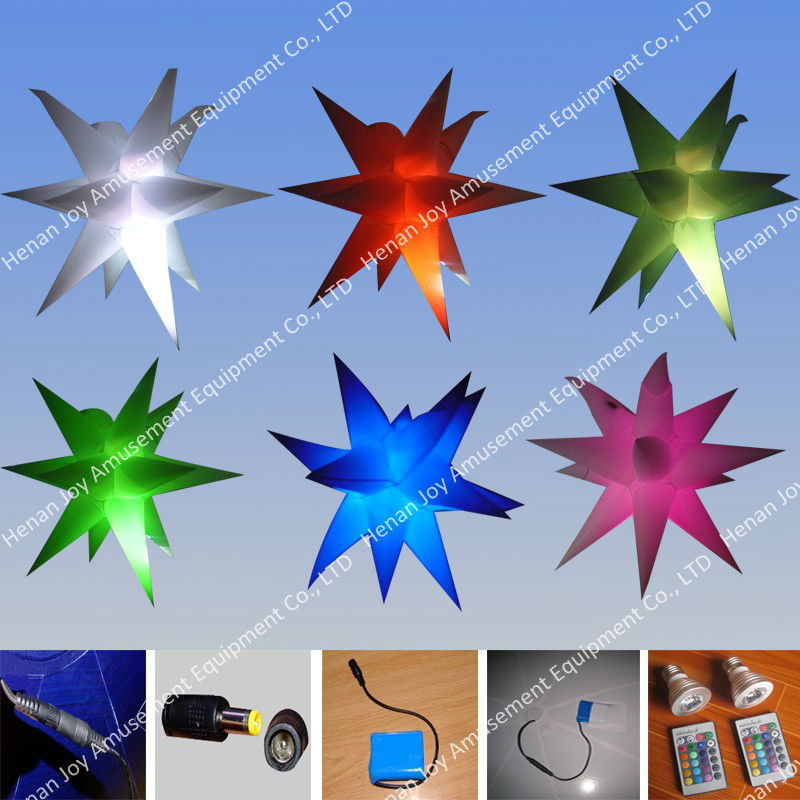 LED inflatable stars changing color decorations made by Durable Oxford cloth /Fair/ Exhibition Anne