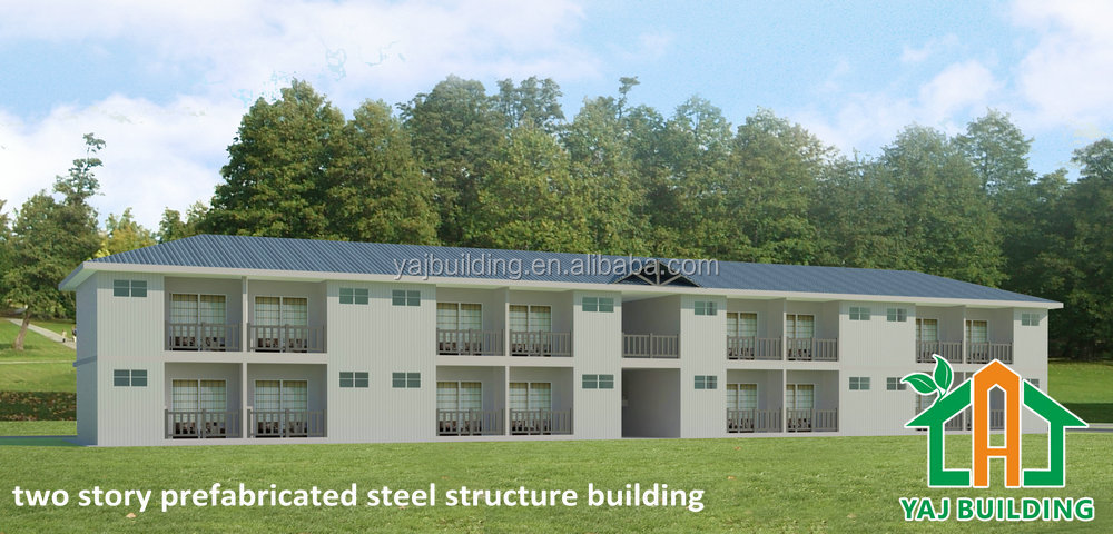 Fashionable steel frame two storey office building construction