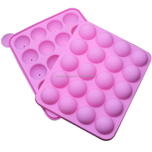 Silicone baking cake mold round lollipop mold chocolate ice grid 20 holes SICM-020-1