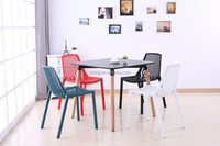 Hot sold high quality MDF top with wood legs office chairs and tables