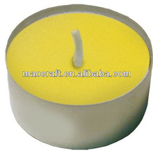 Amarillo vierte anophelifuge aroma sin humo tealight <span class=keywords><strong>velas</strong></span> <span class=keywords><strong>de</strong></span> <span class=keywords><strong>citronela</strong></span>