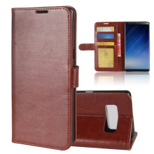 New High Quality Flip Leather Wallet Phone Case For Samsung Galaxy Note 8 With 3 Card Slots Holder